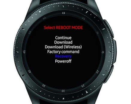 Galaxy watch hard reset