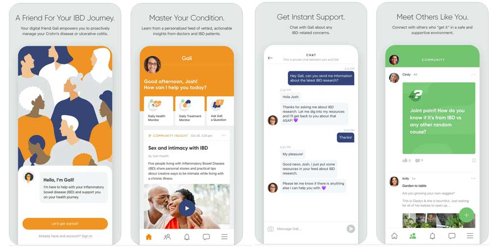 Gali Health app for IBD and IBS