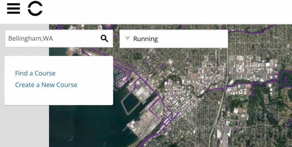 landscape view Garmin Connect heat map on mobile