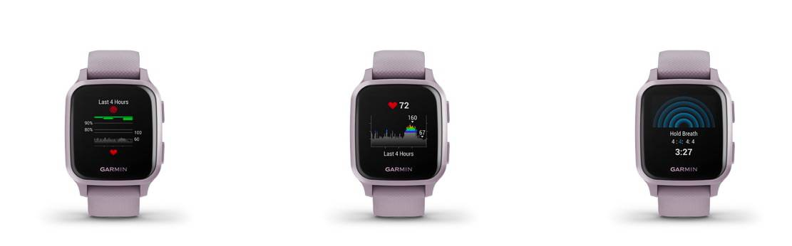 Garmin Venu SQ Health vs Fitbit Sense health