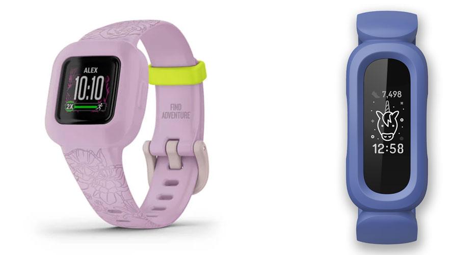 Garmin Vivofit Jr 3 and Fitbit Ace 3 design