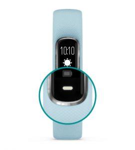 main navigation button on Garmin Vivosmart