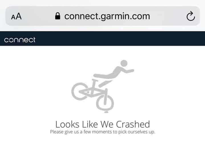 garmin connect crashing