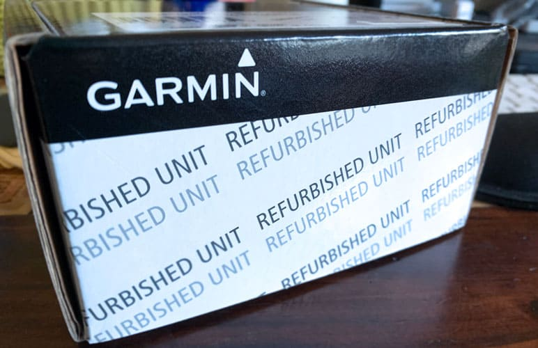 refurbished replacement unit from Garmin under warranty