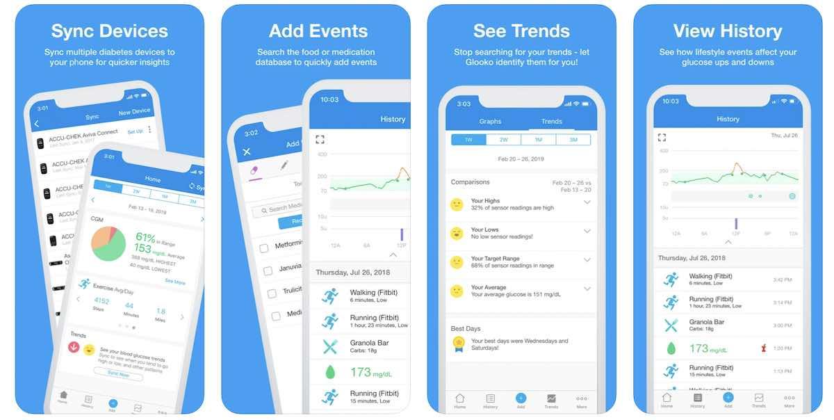 Glooko diabetes management app for iPhone