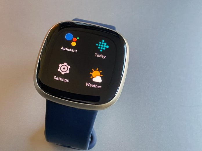 Fitbit Google Assistant app on screen