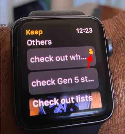 Apple Watch Google Keep Notes