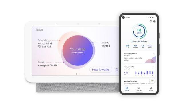 Sleep tracking on Google Nest Hub