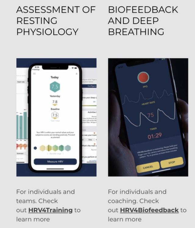 HRV Biofeedback apps