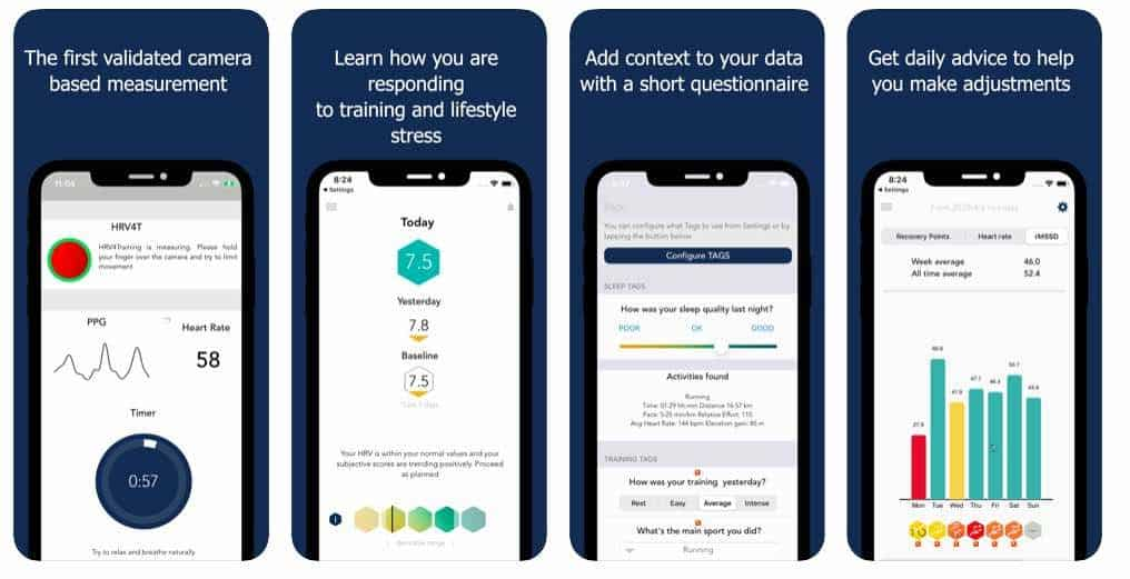 HRV Training app for iPhone and Apple Watch