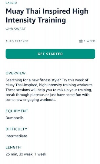 Halo Fitness tracker training program details