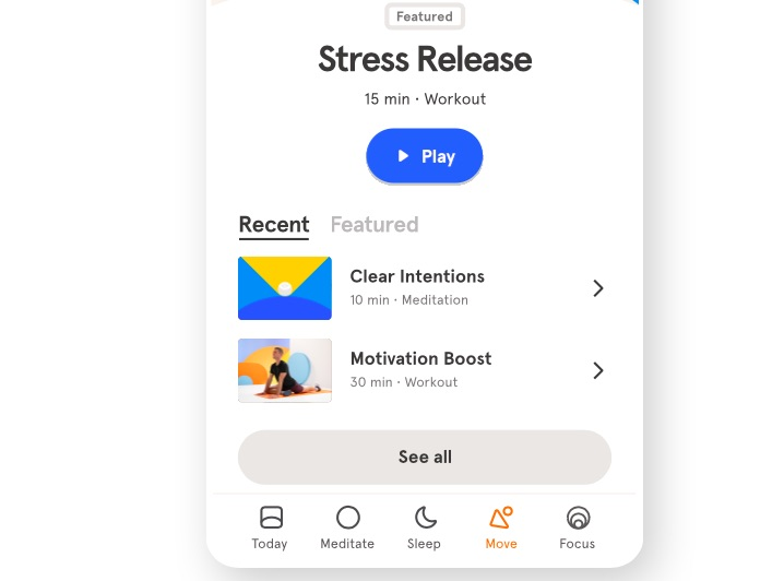 Headspace app for stress management
