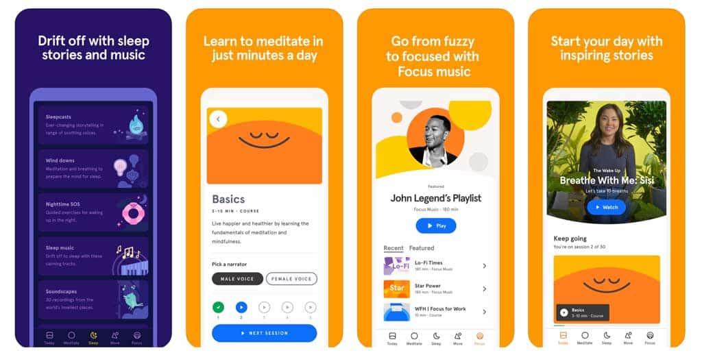 iPhone Headspace app