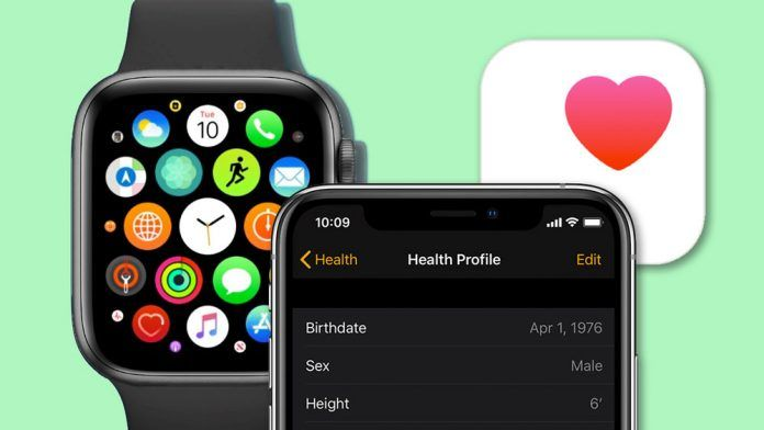 Apple health app for Apple Watch and iPhone