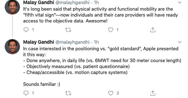 Mobility Metrics objective in Apple HealthKit