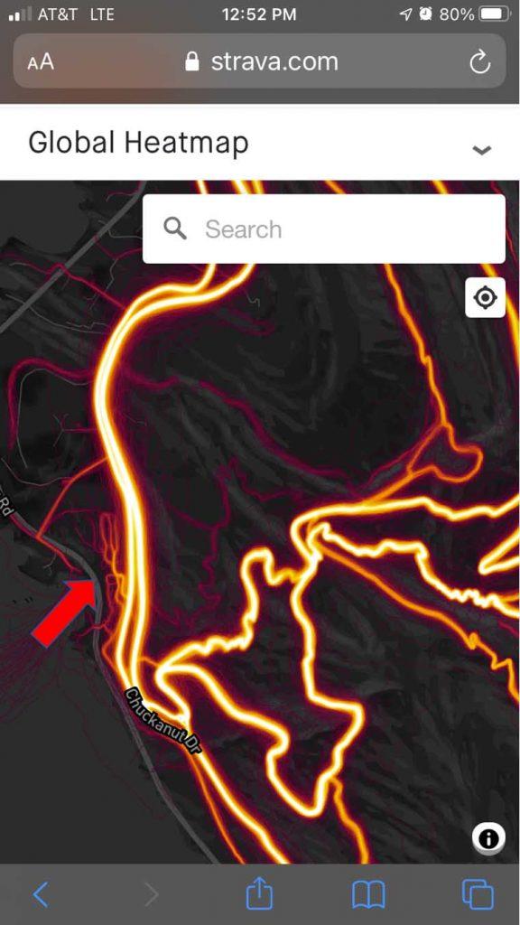 sträva global heat map hidden routes