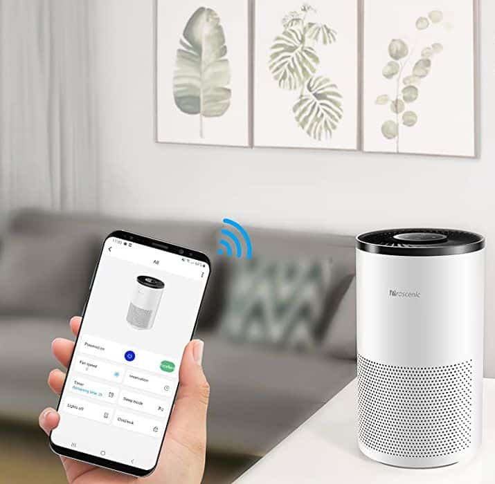 single room air purifier with app