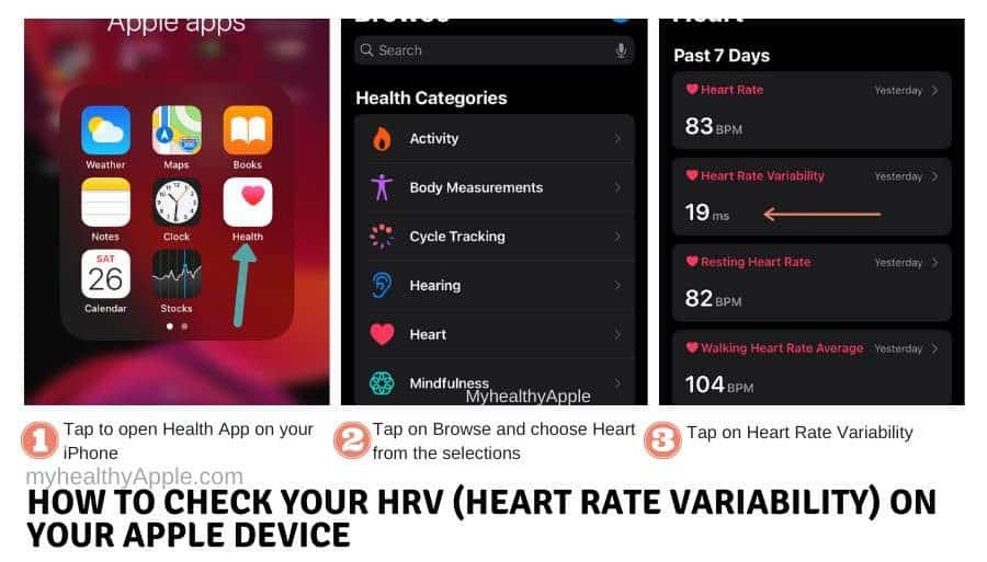 How to Analyze HRV (Heart Rate Variability) on your Apple Watch