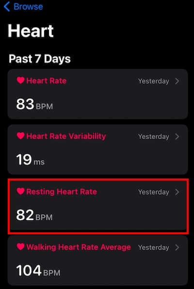 How to check resting heart rate on Apple Watch