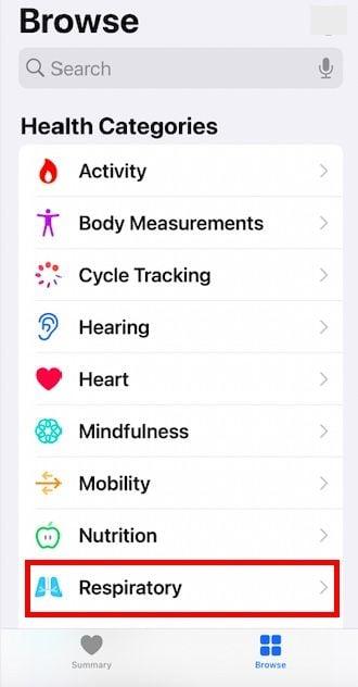 Where is Six minute walking test score on Apple Watch