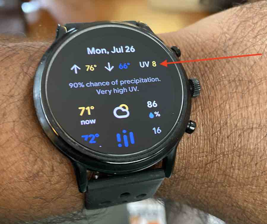 How to track UV index on Fossil Gen 5 smartwatch