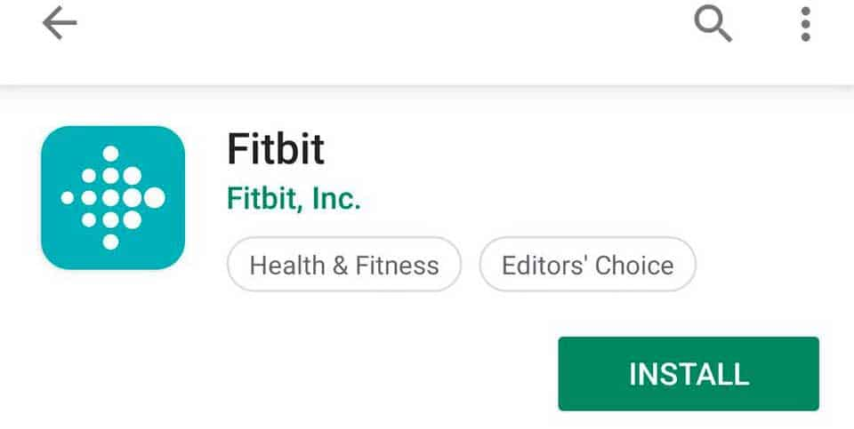 install Fitbit app on Google Play Store