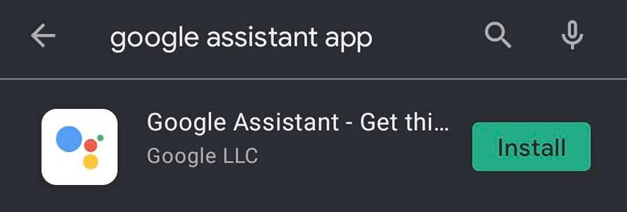 Google Assistant app install