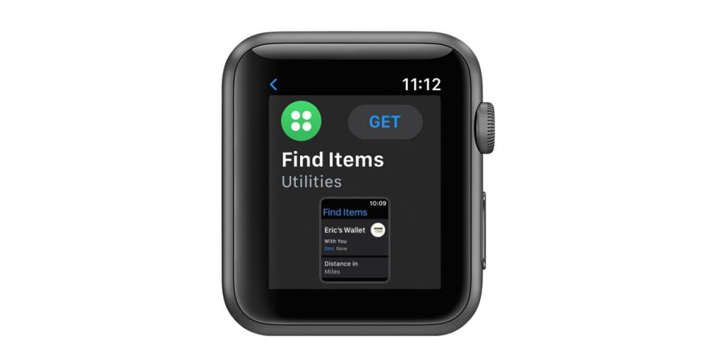 get and install Find Items app in apple watch app store