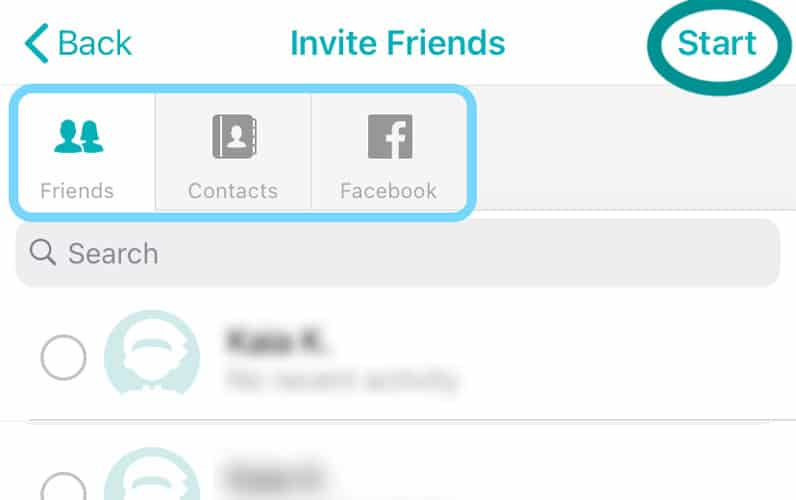 Fitbit friends invite to challenges or adventures