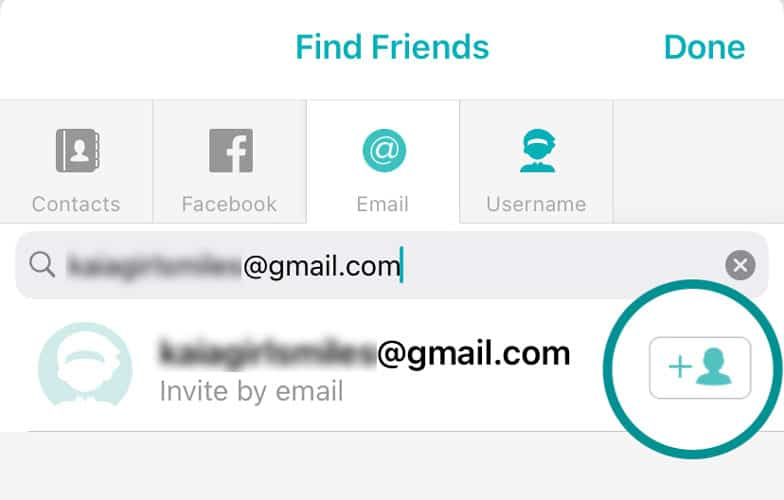 invite Fitbit friends using email in the Fitbit app