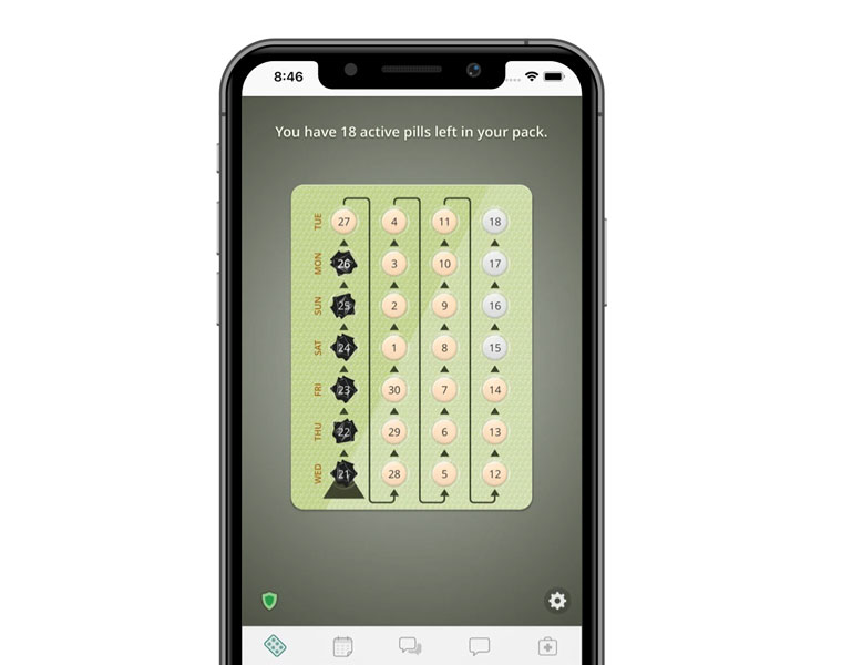 Lady Pill reminder app aniPhone app for birth control