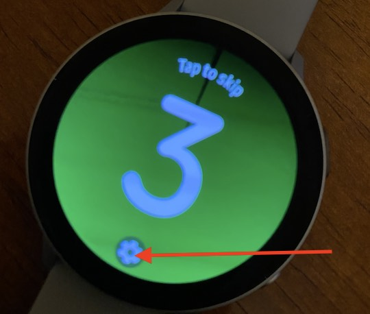Launch exercise settings on samsung galaxy watch