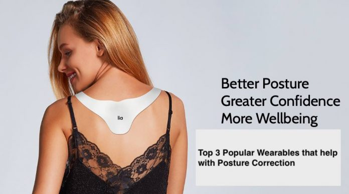 Lia wearable corrects your bad posture