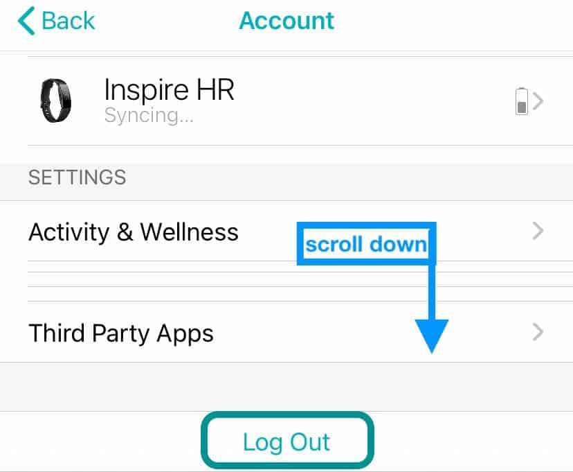 how to log out of Fitbit app