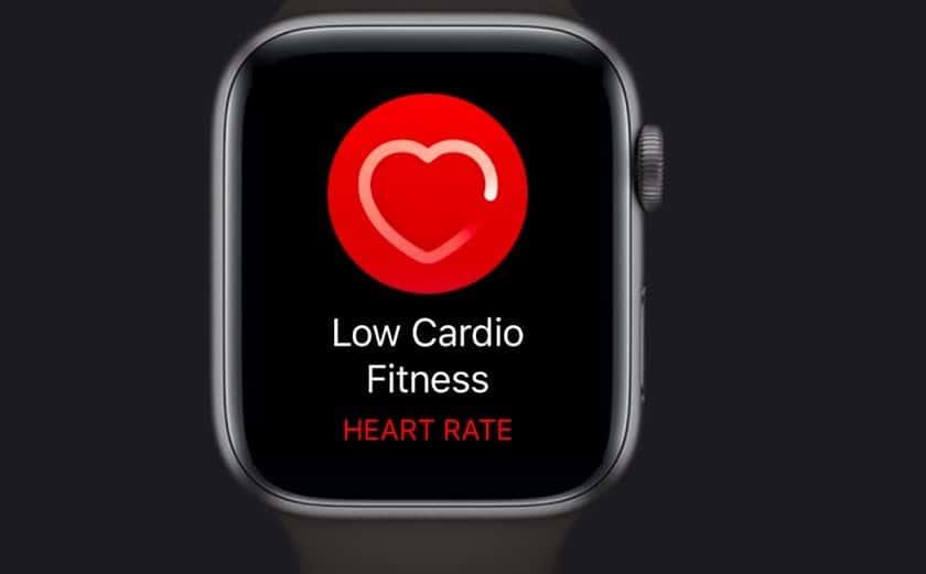 Low Cardio Fitness notification on Apple Watch
