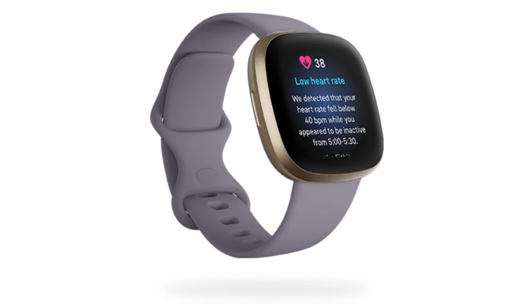 Fitbit Sense and Versa low heart rate notification
