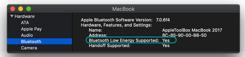Bluetooth Low energy support on Mac