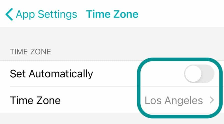 change the time zone manually in Fitbit app