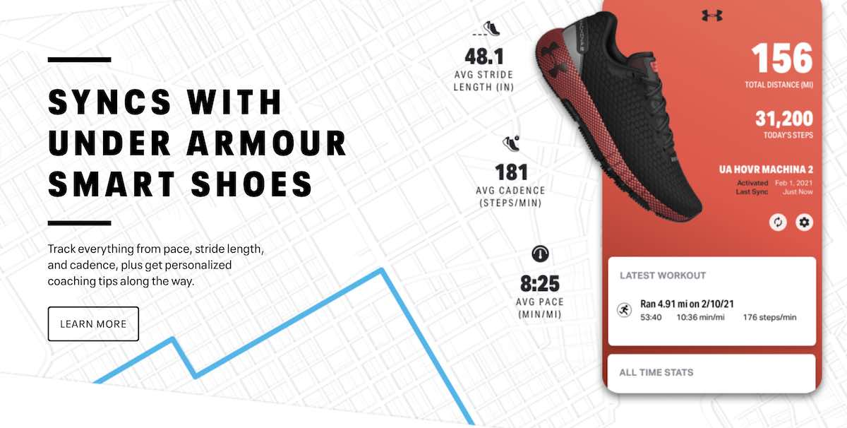 Mapmyrun connected shoes