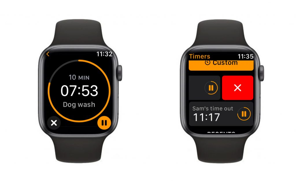 stop or cancel multiple timers on Apple Watch using the Timer app