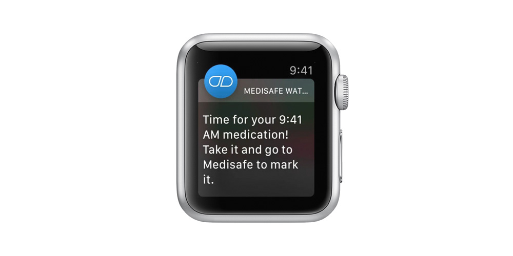 Apple Watch reminder from Medisafe app