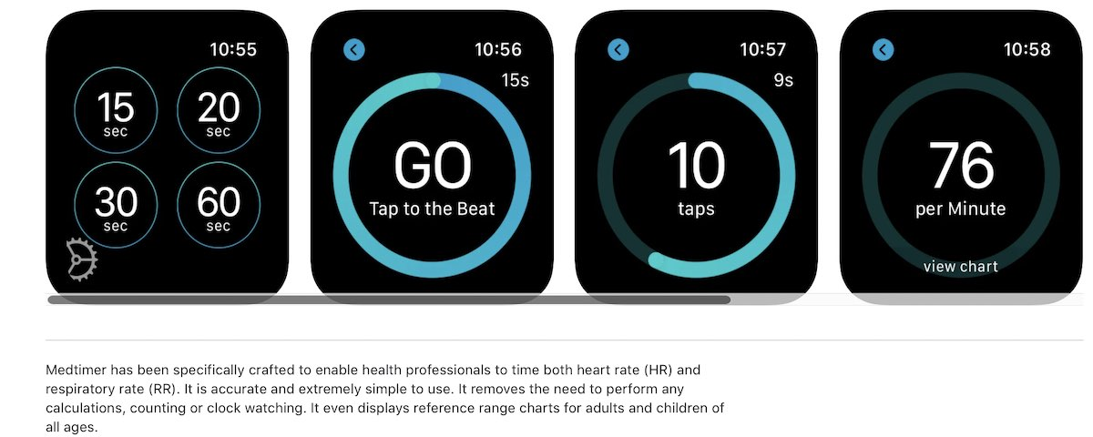 Medtimer respiratory rate on Apple Watch