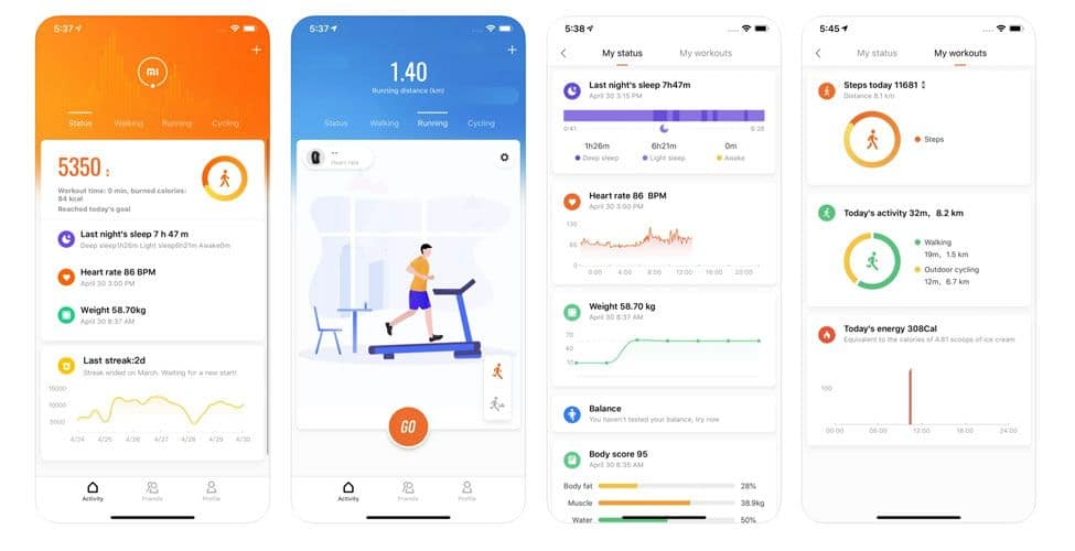 Mi Fit app for Mi Band trackers