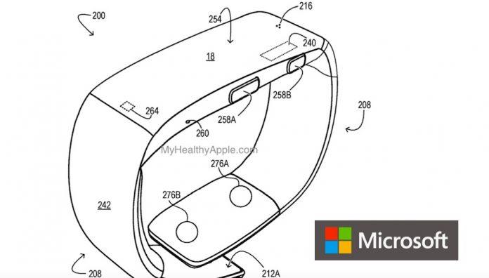 Microsoft Blood Pressure monitor wearable