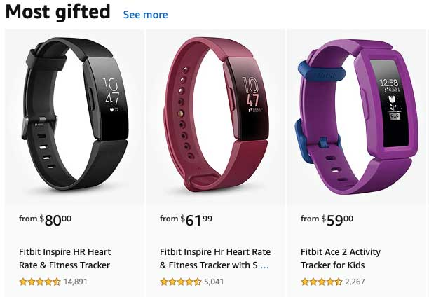 Spring 2020 most gifted Fitbits
