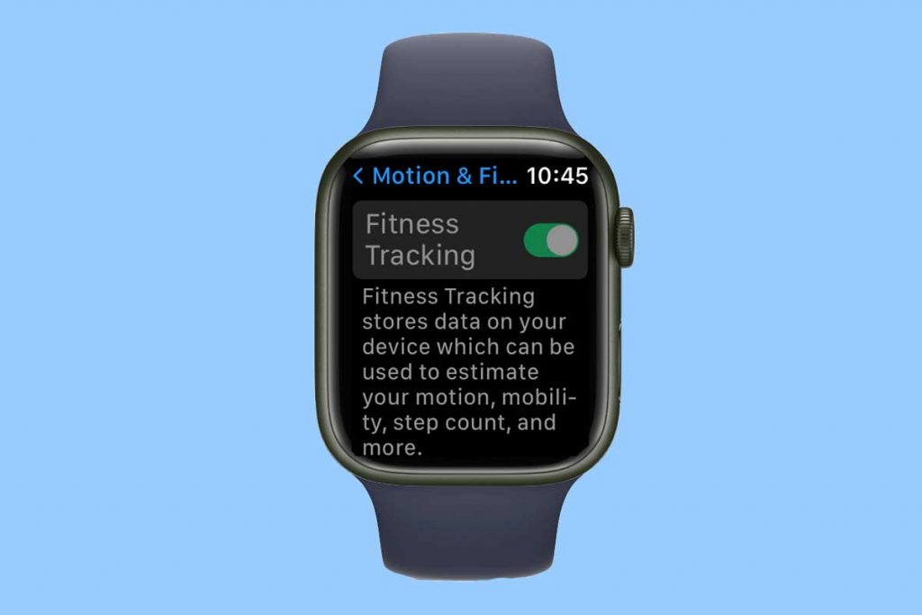 Apple Watch motion and fitness tracking privacy settings