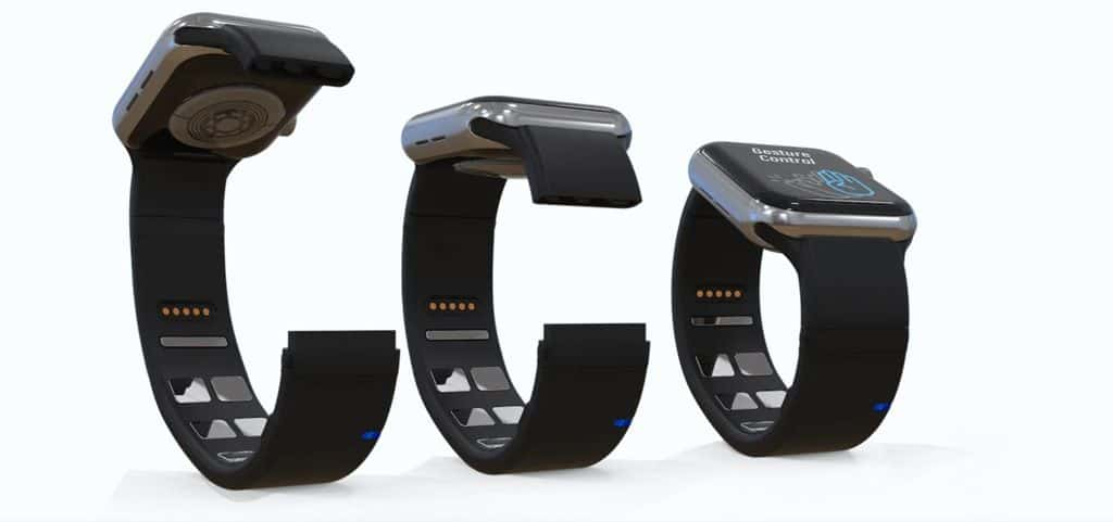 With the Mudra band, The circumference of the band can be adjusted to fit different wrist sizes
