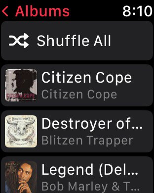 Music synced to downloaded folder on Apple Watch