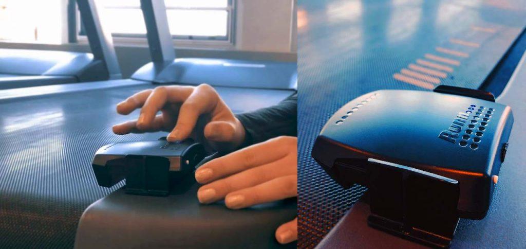NPE Runn Sensor fixed on indoor treadmill