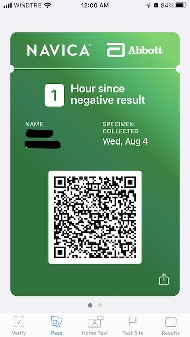 health pass digital on navica